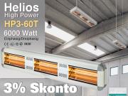High Power Infrarot Wärmestrahler Helios HP3-60T IP20 6000 Watt