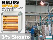 High Power Infrarot Wärmestrahler Helios HP2V-40 IP20 4000 Watt