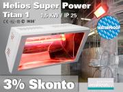 Super Power Infrarot Wärmestrahler Helios Titan SP1 1500 Watt IP25