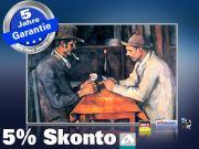 Infrarot Bildheizung Kunst 500 Watt 90x60 M10-SL Zwei Kartenspieler