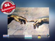 Infrarot Bildheizung Kunst 500 Watt 90x60 M10-SL Erschaffung Adams