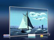 infrarot Bildheizung Kunst 500 Watt 90x60 M10-SL Segelboot