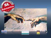 Infrarot Bildheizung Kunst 600 Watt 110x60 M10-SL Erschaffung Adams