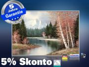 Infrarot Bildheizung Kunst 500 Watt 90x60 M10-SL Berglandschaft