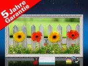 Infrarot Bildheizung 700 Watt 120x60 Stilrahmen StAw Blumenzaun
