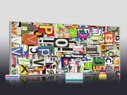 Infrarotheizung als Bild Bildheizung 900 Watt 140x60 M10-SL Buchstaben