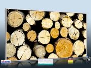 Infrarot Bildheizung 700 Watt 120x60 M10-SL Holzstapel