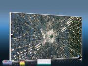 Infrarot Bildheizung 600 Watt 110x60 M10-SL Glas mit Loch