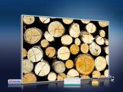 infrarot Bildheizung 500 Watt 90x60 M10-SL Holzstapel
