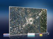 infrarot Bildheizung 500 Watt 90x60 M10-SL Glas mit Loch