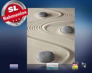 Infrarot Bildheizung 400 Watt 70x60 M10-SL Steine im Sand