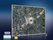 Infrarot Bildheizung 400 Watt 70x60 M10-SL Glas mit Loch