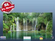 Infrarot Bildheizung 700 Watt Rahmenlos slim-line 120x60 Wasserfall