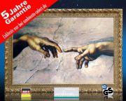 infrarot Bildheizung Kunst 500 Watt 90x60 StG Erschaffung Adams