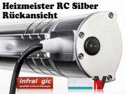 Infrarotstrahler 2000 Heizmeister Professionell RC IP65 Alu mit FB