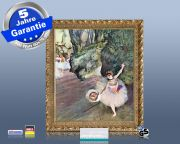 Infrarot Bildheizung Kunst 400 Watt 70x60 StG Tänzerin mit Blumen