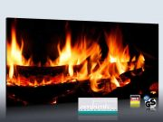 Infrarot Bildheizung 900 Watt Rahmenlos slim-line 140x60 Kaminfeuer