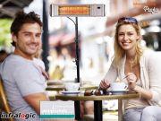 Infrarot Heizstrahler HeizMeister LuXus Amber Light Bluetooth 2KW IP65