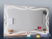Design Spiegel mit Infrarotheizung Bad im 4 Größen Rahmenlos Tribal