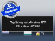 Infrarotheizung Tafelheizung Schreibtafel ESG Glas 500 Watt 130x40 M10