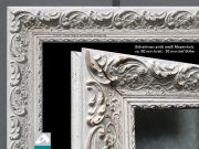 Design Spiegel mit Infrarotheizung 900 Watt Stilrahmen Blumenranke