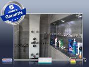 Infrarot Bad Spiegelheizung 500 Watt ESG Glas 90x60 Rahmen M10