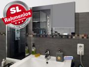 Infrarotheizung Rahmenlos ESG Glas schwarz Heizspiegel 500 Watt 90x60