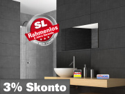 Infrarot Spiegelheizung Bad 600 Watt Rahmenlos slim-line 110x60
