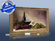 Infrarot Bildheizung 500 Watt 90x60 Stilrahmen StG Wein-Trauben