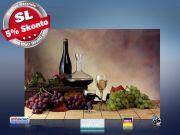 Infrarot Bildheizung 500 Watt Rahmenlos slim-line 90x60 Wein-Trauben
