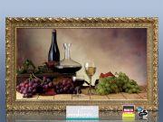 Infrarot Bildheizung 600 Watt 110x60 Stilrahmen StG Wein-Trauben