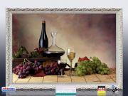 Infrarot Bildheizung 500 Watt 90x60 Stilrahmen StAw Wein-Trauben