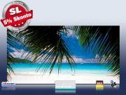 Infrarot Bildheizung 700 Watt Rahmenlos slim-line 120x60 Karibik