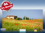 Infrarot Bildheizung 700 Watt Rahmenlos slim-line 120x60 Toskana