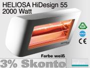 Infrarotstrahler Heliosa HiDesign 55 IPX5 2000 Watt Wasserdicht