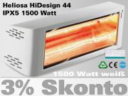 Infrarot Heizstrahler Heliosa HiDesign 44 IPX5 1500 Watt Wasserdicht