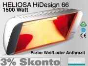 Infrarot Heizstrahler Heliosa HiDesign 66 IPX5 1500 Watt Wasserdicht