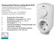 Einfacher Steckdosen Thermostat mit Drehscheibe für Infrarotheizungen