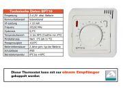 Funk Raumthermostat analog Set BT010 mit Unterputz Empfänger BT001