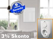 Infrarotheizung mit Thermostat ESG Glas weiß 400 Watt 70x60 M10