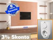 Infrarotheizung mit Thermostat ESG Glas schwarz 500 Watt 90x60 M10
