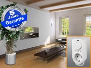 Infrarotheizung mit Thermostat ESG Glas schwarz 700 Watt 120x60 M10