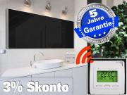 Infrarotheizung mit Funk Thermostat Front schwarz 1400 Watt 200x80 M10