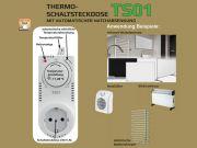 Thermo Schaltsteckdose TS01 mit Nachtabsenkung - Einfache Bedienung