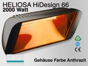 Infrarot Wärmestrahler Pferdesolarium Heliosa Hi-Design 66 IPX5 2000 Watt