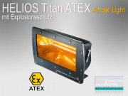 HELIOS Titan ATEX Amber Light Heizstrahler mit Explosionsschutz