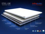 Infrarot Tafelheizung Rahmenlos Metall Baureihe steel-line in 3 Größen