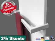 Infrarotheizung Rahmenlos Metall steel-line mit Handtuchhalter in 5 Größen