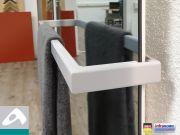 IR Heizkörper Spiegel Rahmenlos slim-line mit Handtuchhalter in 5 Größen
