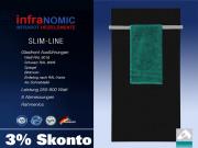 Infrarot Glas Heizkörper Rahmenlos mit Handtuchhalter 5 Größen schwarz